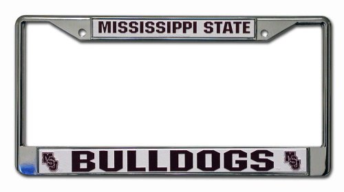 Rico Industries NCAA Mississippi State Bulldogs Standard Chrome License Plate -