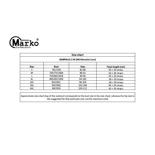 Marko Gabrielle 2 M-243 Elegante Y Clásico Banador Con Fruncidos Y Tirantes Extraíbles Y Regulables - Hecho En La UE Morado Claro