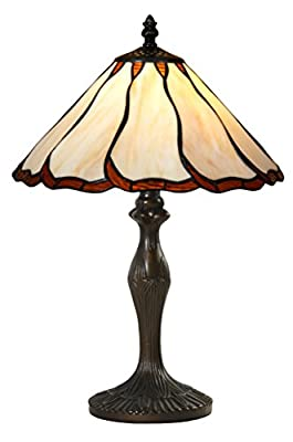 Handcrafted Tiffany Style Table Lamp 12 inch Shade Diameter 19 inch Base Height