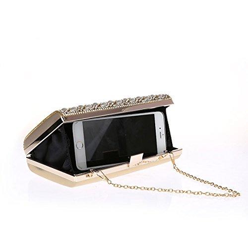 sera oro cristallo sera Pochette diamanti da fibbia in con con per borse KAXIDY da R5wq6T