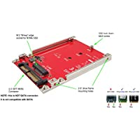 Ableconn IU2-M2132 M.2 NVMe SSD to U.2 (SFF-8639) 2.5-Inch SSD Adapter with Aluminum Frame Bracket