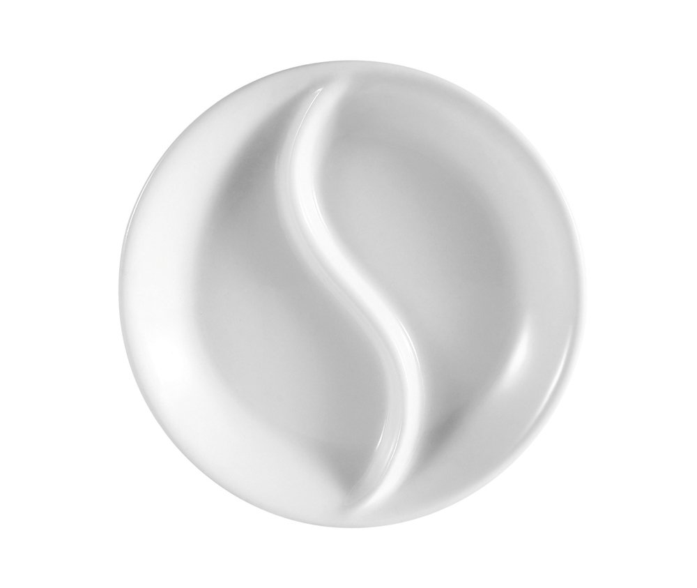 CAC China CN-47 Accessories 2-3/4-Inch 1.5-Ounce Super White Porcelain Round Sauce Dish, Box of 72