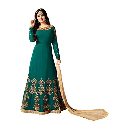 Black Friday Sale Bollywood Designer Wedding Wear Salwar Suit Lehenga Dress Kaftan Women Muslim Ethnic Traditional 592 (4, Green) by ETHNIC EMPORIUM