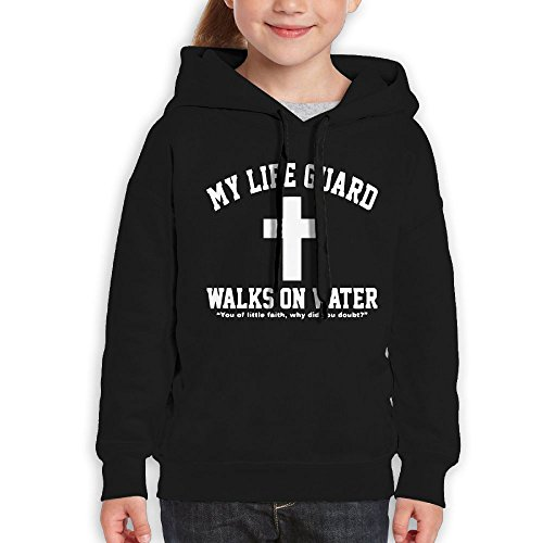 Price comparison product image FDFAF Teenager Youth My Life Guard Walks On Water Christian Easter Religious Tour Classic Hoodie Hoodies L Black