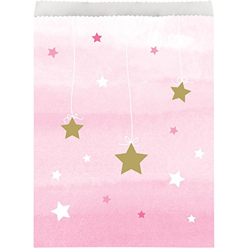 (One Little Star Girl Paper Treat Bags (10ct))