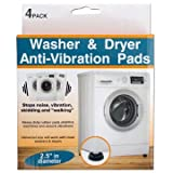 Washer Anti-Vibration Rubber Pad for Vibration Reduction and Noise Filter 4 Pack Anti-walk Pads FITS ALL Washing Machines and Dryers Anti Vibration Technology