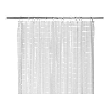 IKEA GRONSKA - Rideau de douche, blanc - 180x180 cm: Amazon.fr ...