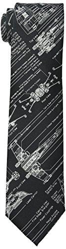 Star Wars Men's Blue Print Tie, Black, One Size (Star Wars Tie)