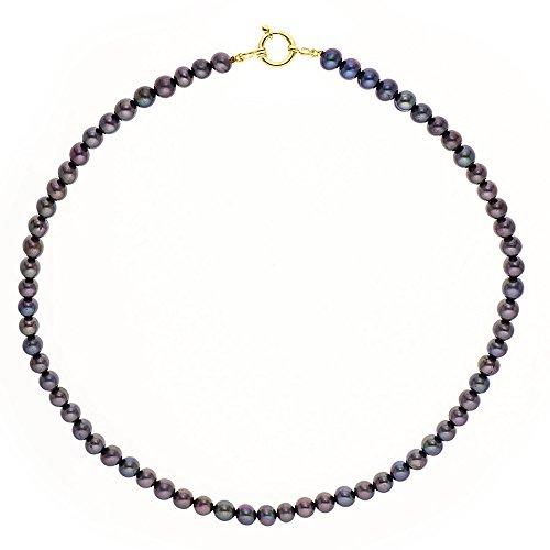 Pearls & Colors - Collier multi rangs - Or jaune 9 cts - Perle d'eau douce - 42 cm - PC-9CC17