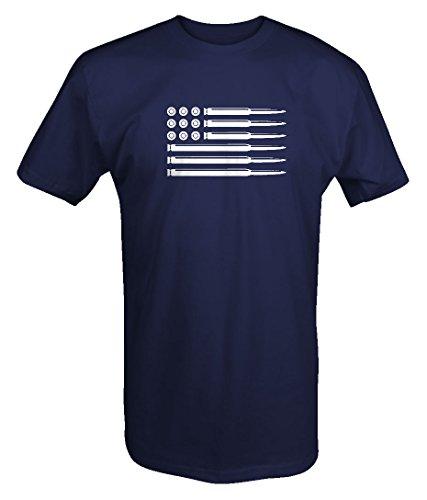 AR15 .308 Rifle Bullets American Flag Gun Rights T shirt (Bullet Mens Tee)