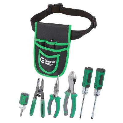 7-Piece Electrician's Tool Set with Pouch (Commercial Electric compare prices)
