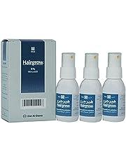 محلول هيرجرو يحتوي على 5% من دواء مينوكسيديل تكفي لمدة 3 اشهر من دار الدواء، (3 زجاجات × 50 مل)