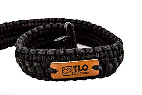 TLO Outdoors Paracord Gun Sling - Adjustable 2-Point Paracord Sling Rifle, Shotgun Crossbows (550 Rated Nylon, Kernmantle Paracord, Extra Wide, Black) (Best Rated Gun Belts)