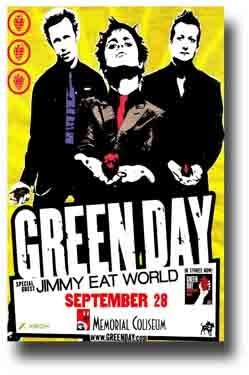 Green Day Poster - American Idiot Concert Tour Rg Ai
