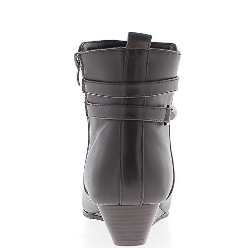 Marrone con zeppa Stivali di grandi dimensioni al tacco di 3,5 cm