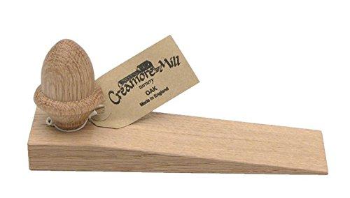 Creamore Mill UK Made Oak Door Wedge / Stop with Acorn Knob - Oak Door Stop