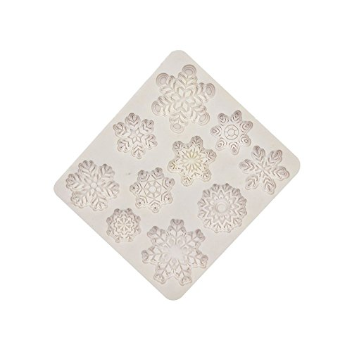 GerTong 1PCS Silicone Cake Mould Snowflake Shape Cake Candy Molds Chocolate Pudding Jelly Fruit Pie Fondant Decorating Mould DIY Tool