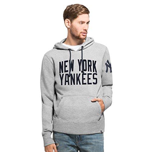 MLB New York Yankees Men's '47 Gamebreak Cross-Check Pullover Hood, X-Large, Slate Grey