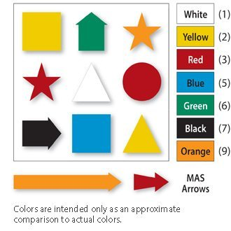 Magna Calendar Visual Magnetic - Magna Visual FI-526 0.75 in. Magnetic Star Indicators, Green - Pack of 20