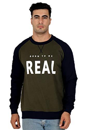 Veirdo Cotton Regular Fit Sweatshirt for Men