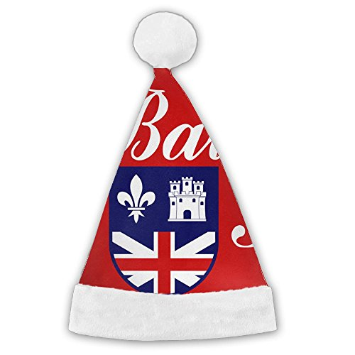 WEN7Q Flag Of Baton Rouge Christmas Hats For Kids Adult Christmas Gifts Nice Santa Hats Holiday -