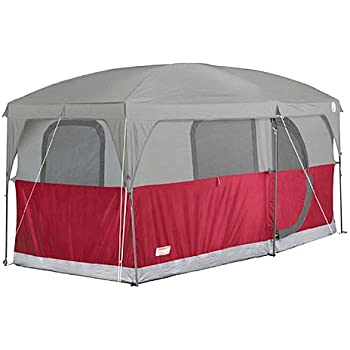 COLEMAN H&ton 6 Person Family C&ing Cabin Tent w/ WeatherTec | 13u0027 x 7u0027  sc 1 st  Amazon.com & Amazon.com : Coleman Prairie Breeze 9-Person Cabin Tent Black and ...