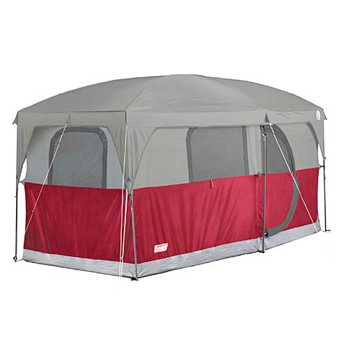 COLEMAN Hampton 6 Person Family Camping Cabin Tent w/ WeatherTec | 13′ x 7′