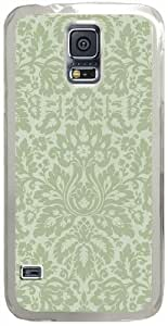 Damask Samsung Galaxy S5 Case with Transparent Skin I9600 Hard Shell Cover
