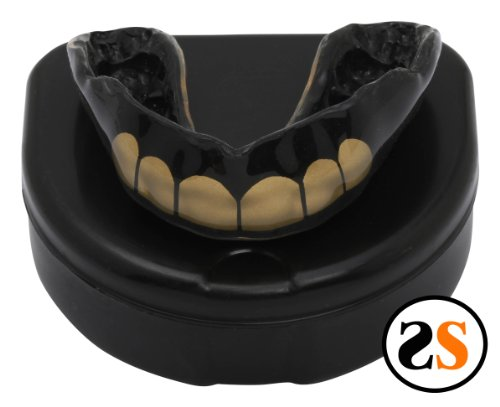 Custom Gold Grill Mouth Guard by SportingSmiles