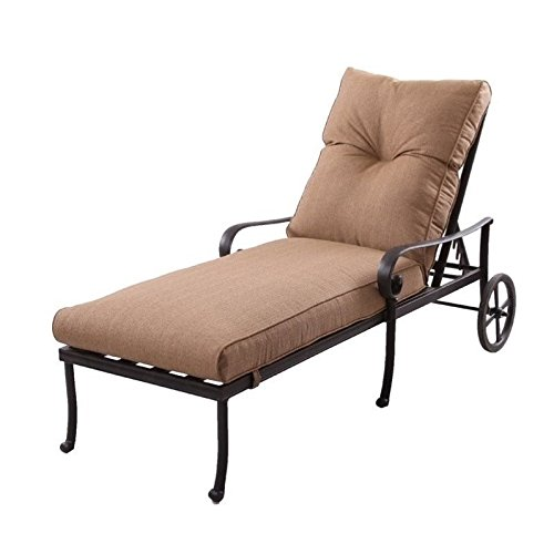 Darlee Santa Anita 9 Piece Patio Chaise Lounge Set in Antique Bronze ()