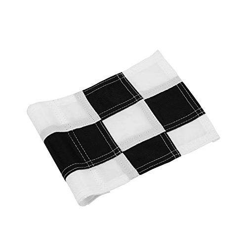 KONDAY Golf Flag,Practice Green Golf Flags, Solid Nylon and Checkered Traning Golf Putting Green Flags, Indoor Outdoor Backyard Garden Portable Golf Target Flags 8 x 6(Black-White)