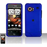 Importer520 Rubberized Snap-On Hard Skin Protector Case Cover for For (Verizon) HTC Droid Incredible 6300 - Blue