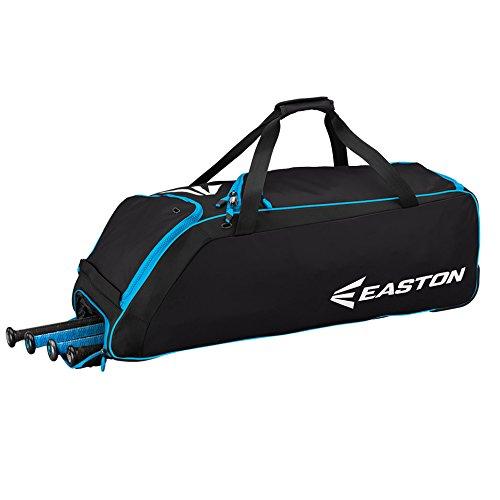 Easton E510W Bat & Equipment Wheeled Bag | Baseball Softball | 2019 | Pro Blue | 4 Bat Compartment | Vented Pockets - Minimize Odor & Quick Dry | Removable Shoe Panel | Zippered Pockets | Fence Hook