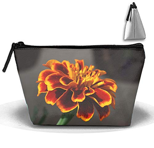 (Marigold Clipart Flower Portable Make-Up Zipper Pouch Carry Sewing Kit Medicine Bag)