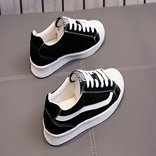 I Ladies Lacci Casual Legare Delle Fondo Scarpe Tacco Studente Pendenza Piatto A Di Sneakers qwYXn5
