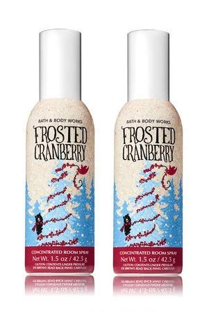 Bath and Body Works 2 Pack Frosted Cranberry Room Spray 1.5 Oz.