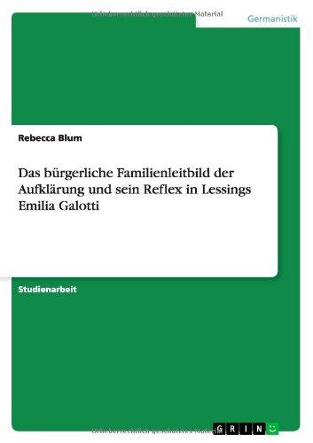 Das bürgerliche Familienleitbild der Aufklärung und sein Reflex in Lessings Emilia Galotti