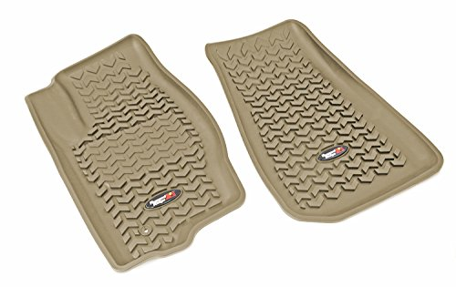 Rugged Ridge All-Terrain 13920.28 Tan Front Row Floor Liner For Select Jeep Commander and Grand Cherokee Models