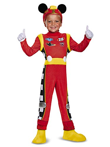 Mickey Roadster Deluxe Toddler Costume, Multicolor, Medium (3T-4T)]()