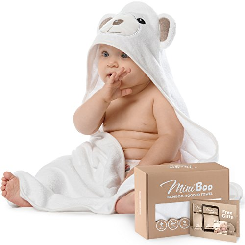 Premium Ultra Soft Organic Bamboo Baby Hooded Towel with Unique Design – Antibacterial and Hypoallergenic Baby Towels for Infant and Toddler – Suitable as Baby Gifts