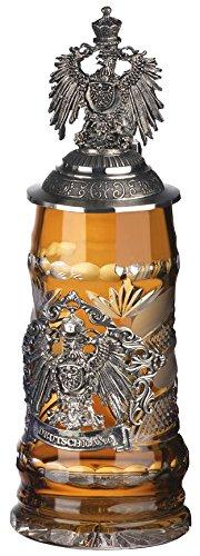 - German Beer Stein - Lord of Crystal - Amber .5L