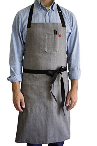 Hedley & Bennett American Made Apron: Pho Stretch Cotton Denim by Hedley & Bennett