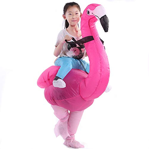 Staryard Inflatable Flamingo Costume Pink Piggyback Costume Halloween (Large Adult) (Small for Kid)