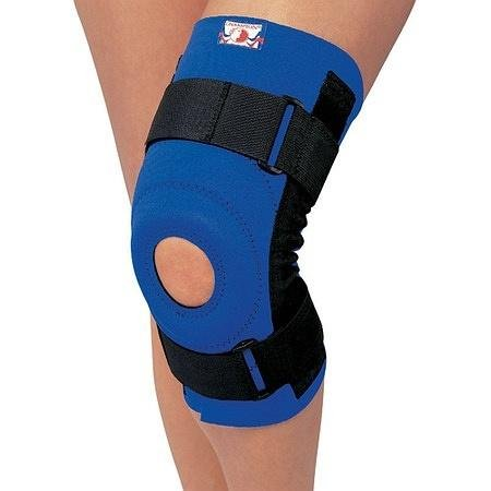 Champion Professional Neoprene Knee Stabilizer with Spiral Stays Blue - 2PC