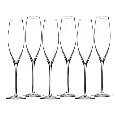 Waterford Elegance Classic Champagne Toasting Flute Set of Six