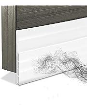 Door Draft Stopper,Door Guard Insulator Seal for Exterior or Interior Blocker The Door Bottom Slot,Soundproof Weather Stripping,Dust-Proof Door Draft Stopper,39.5'' L x 2'' W,White