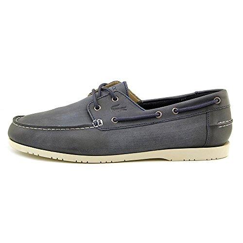Lacoste Heren Corbon 2 Blauw Lage Top Mode Bootschoenen Donkerbruin