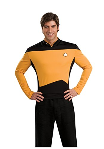 Rubie's Star Trek The Next Generation Deluxe Lt. Commander Data Adult Costume Shirt, -