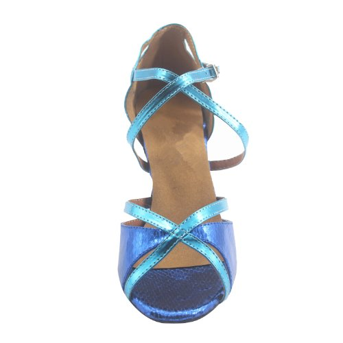 3''heel blue Patent Party Shoes Leather Woman's Shinning Msmushroom wZqUY0T