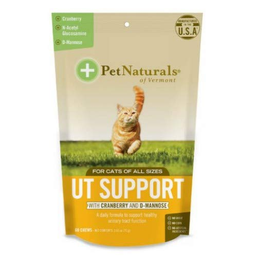 (3 Pack) Pet Natural's of Vermont 60 Count Urinary Tract Support Supplement Soft Chews for Cats